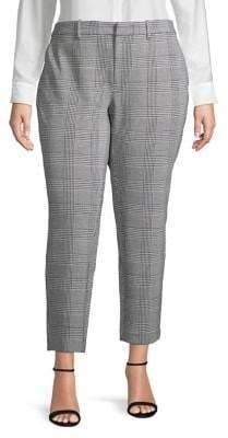 Lord & Taylor Plus Glen Plaid Pants