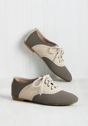 Academic Excellence Oxford Flat in Stone in 6 $16.99 thestylecure.com