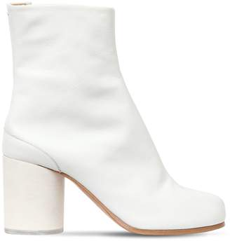 Maison Margiela 80mm Tabi Leather Ankle Boots