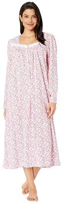 Eileen West Cotton Peached Jersey Knit Long Sleeve Ballet Nightgown