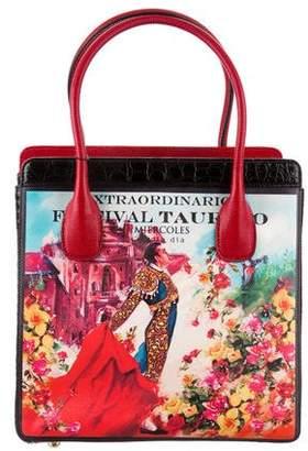 Dolce & Gabbana Lizard & Python Tote Bag