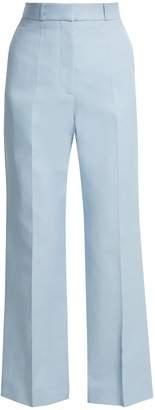 Straight-leg cotton-blend trousers