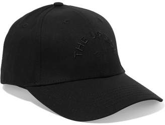 The Upside Embroidered Cotton-canvas Baseball Cap - Black
