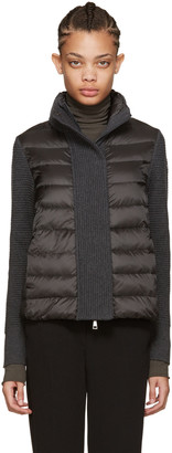 Moncler Grey Quilted Down Jacket $725 thestylecure.com