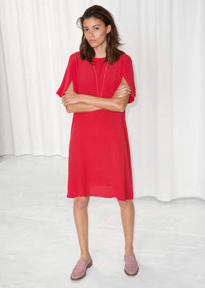 And other stories Flared Sleeve Slit Dress