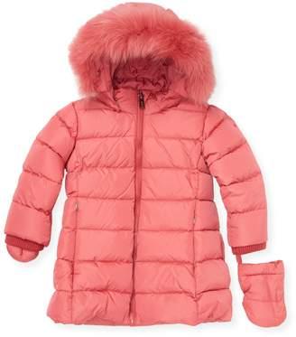 ADD Fur Trimmed Hooded Jacket