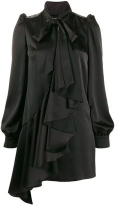 John Richmond embellished shoulder pad dress
