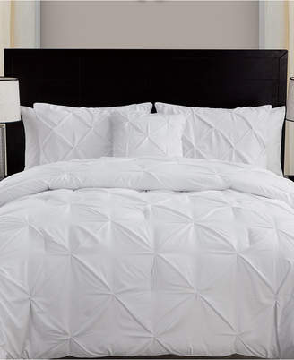 Vcny Home Carmen 3-Pc. Ruched Queen Duvet Cover Set Bedding