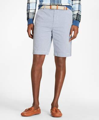 Brooks Brothers Gingham Seersucker Bermuda Shorts