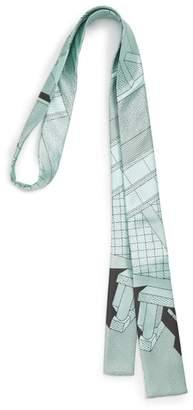 MEMPHIS GROUP MEMPHIS Milano Mint Print Silk Tie