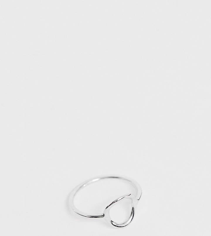 DESIGN – Ring aus Sterlingsilber mit offenem, rundem Design