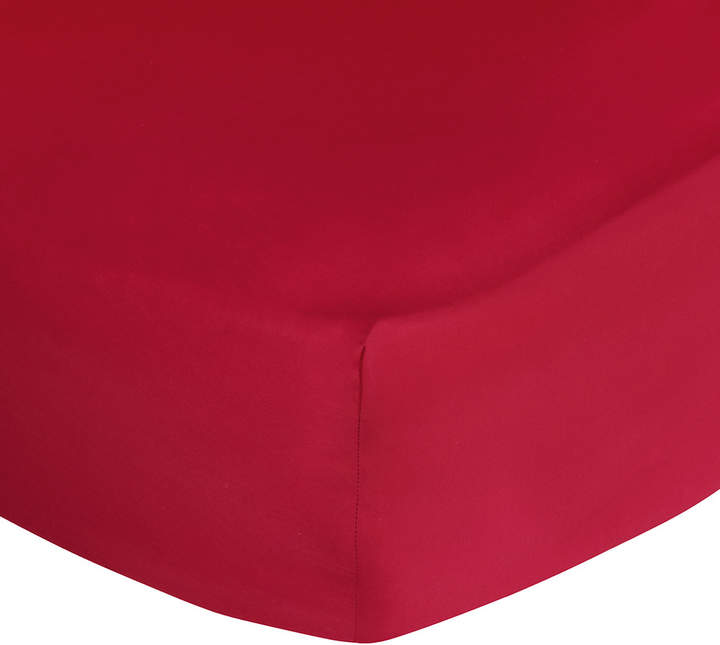 Polo Player Fitted Sheet - Red Rose - Super King