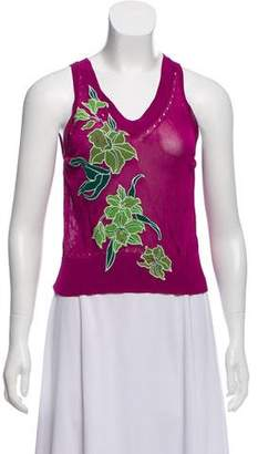 Kenzo Embroidered Sleeveless Knit