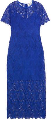 Diane von Furstenberg - Guipure Lace Midi Dress - Royal blue $600 thestylecure.com