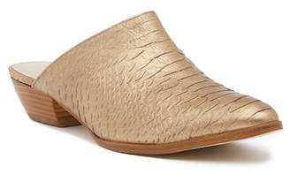 Matisse Clover Embossed Reptile Print Leather Mule