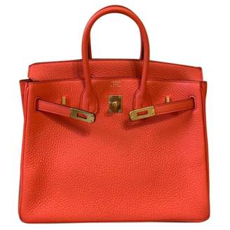 Hermes Birkin 25 Orange Leather Handbag