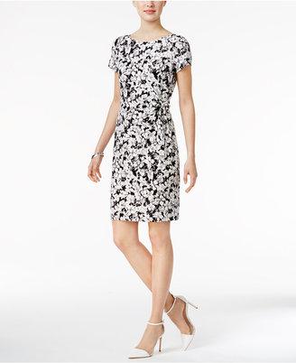 Tommy Hilfiger Floral-Print Sheath Dress $99 thestylecure.com