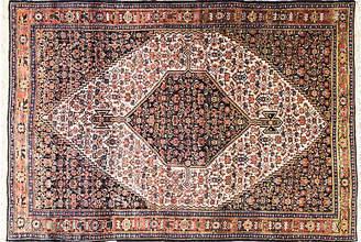 """One Kings Lane Vintage Antique Persian Senneh - 4'6"""" x 6'8"""" - Eli Peer Oriental Rugs"""
