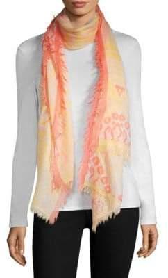 Bajra Wool& Silk Tie-Dye Scarf