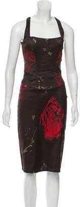 Just Cavalli Printed Sheath Dress