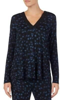 DKNY Long Sleeve Abstract Print Pyjama Shirt