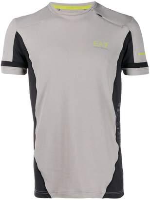 Emporio Armani Ea7 contrasting panels sports T-shirt