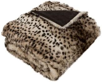 Safavieh Faux Leopardis Animal Fur Throw