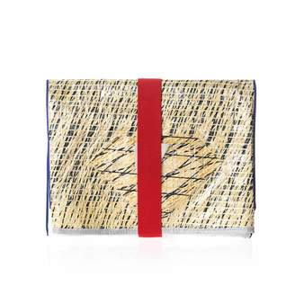 Huner Fold Over Clutch 0036 With Red Elastic