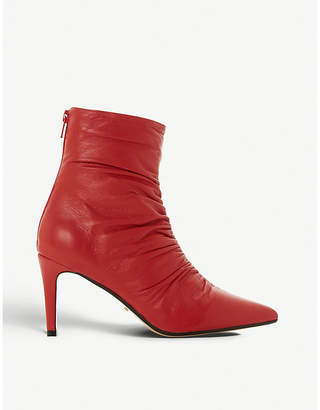 77f47e4b9421 Dune Oasis ruched leather ankle boots