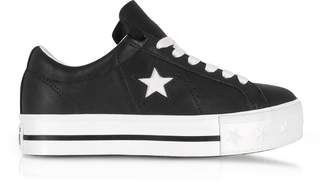 Converse Limited Edition Black and White One Star Platform Ox Women's Sneakers