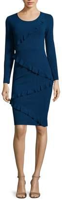 Tracy Reese Women's Ruffle Trim Sweater Dress