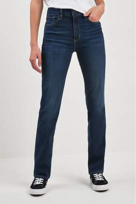Levi's Womens 724 High Rise Straight Jean - Blue