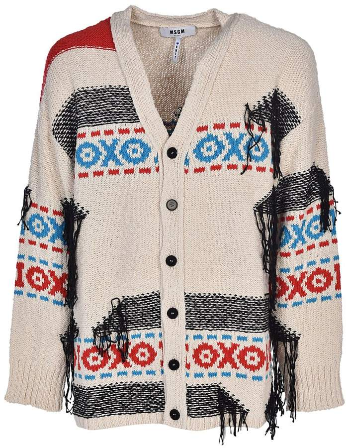 MSGM Distressed Cardigan