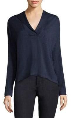 Eileen Fisher Drop-Shoulder Hooded Sweater