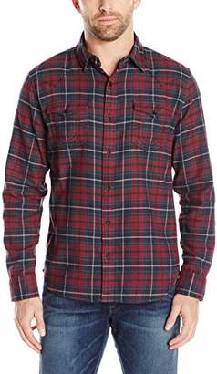 True Religion Men's Ozone Flannel Plaid Western Button Down Shirt