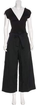 Brunello Cucinelli V-Neck Wide-Leg Jumpsuit