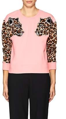 VIVETTA Women's Leopard-Appliqué Cotton Sweatshirt