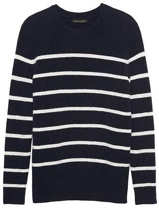 Banana Republic Petite Aire Stripe Crew-Neck Sweater