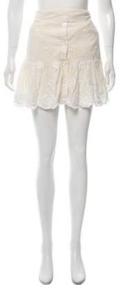 Miguelina Embroidered Mini Skirt