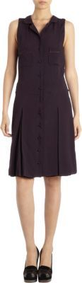 Rochas Jacquard Knit Pleated Skirt Dress