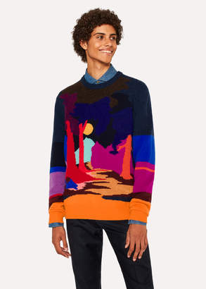 Paul Smith Men's Wool-Blend 'Dreamer' Crew Neck Sweater
