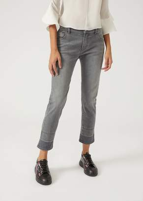 Emporio Armani J36 Straight Fit Stone Washed Jeans