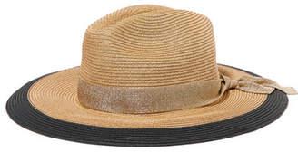 Eres Jo Grosgrain-trimmed Woven Paper Hat - Sand