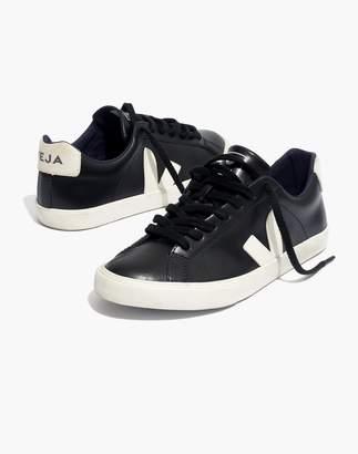 Madewell Veja Esplar Low Sneakers in Black Leather