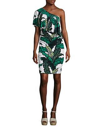 Tracy Reese Women's One Shoulder Flounce Dress