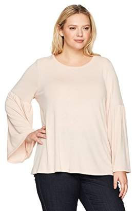 Calvin Klein Women's Plus Size Bell Sleeve Top