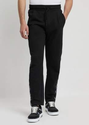 Emporio Armani Jogging Pants With Logo Side Band
