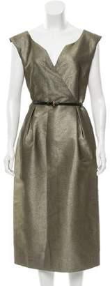 Barbara Tfank Sleeveless Midi Dress