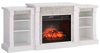 Alcott Hill Spearman Simulated Stone Infrared Electric Fireplace