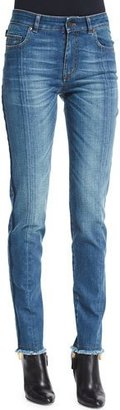 TOM FORD High-Waist Patchwork-Panel Jeans, Blue $1,090 thestylecure.com